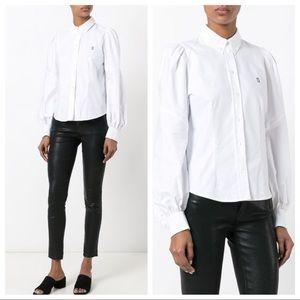 Marc Jacobs Classic White Long Sleeve Logo Shirt